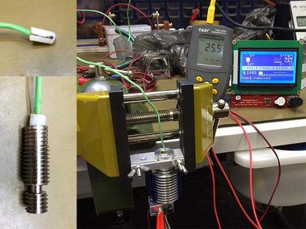 Стенд для измерения производительности сопла 3D-принтера